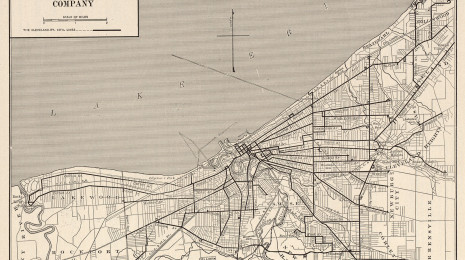 Cleveland Streetcar Network In 1900