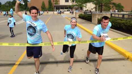 (L to R) Team members Nick, Kiera, and Andrew are ready for the race, are you ready to join us?
